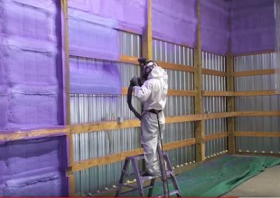 metal structure interior spray