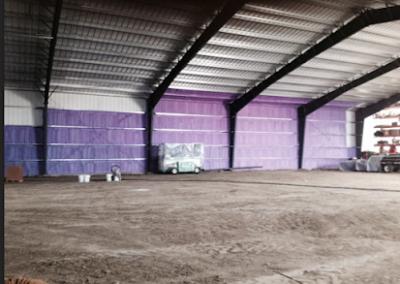 large metal walls spraying job