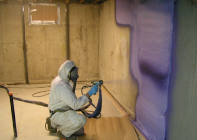 basement concrete wall spray 2