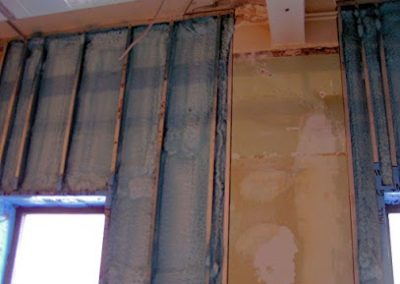 new build interior wall spray 2