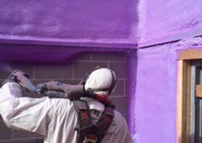 exterior spraying