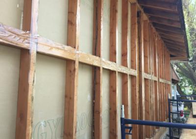 pre-spray exterior walls