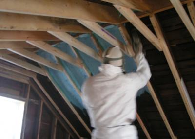starting spray on roof interior
